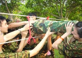 公司为基层以上主管干部举行的二天一夜半军事化集训活动